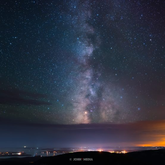 Cadillac Mountain Acadia Milky Way