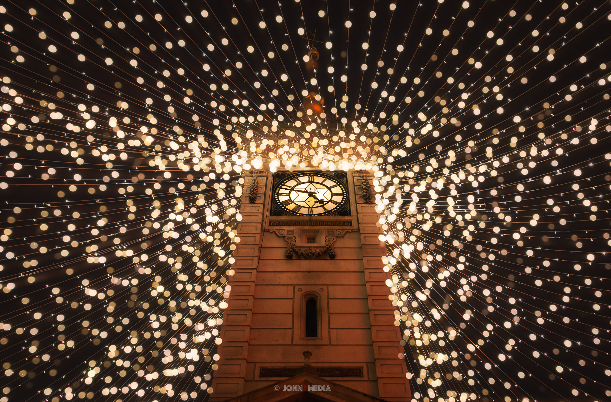 Brighton clock tower at Christmas