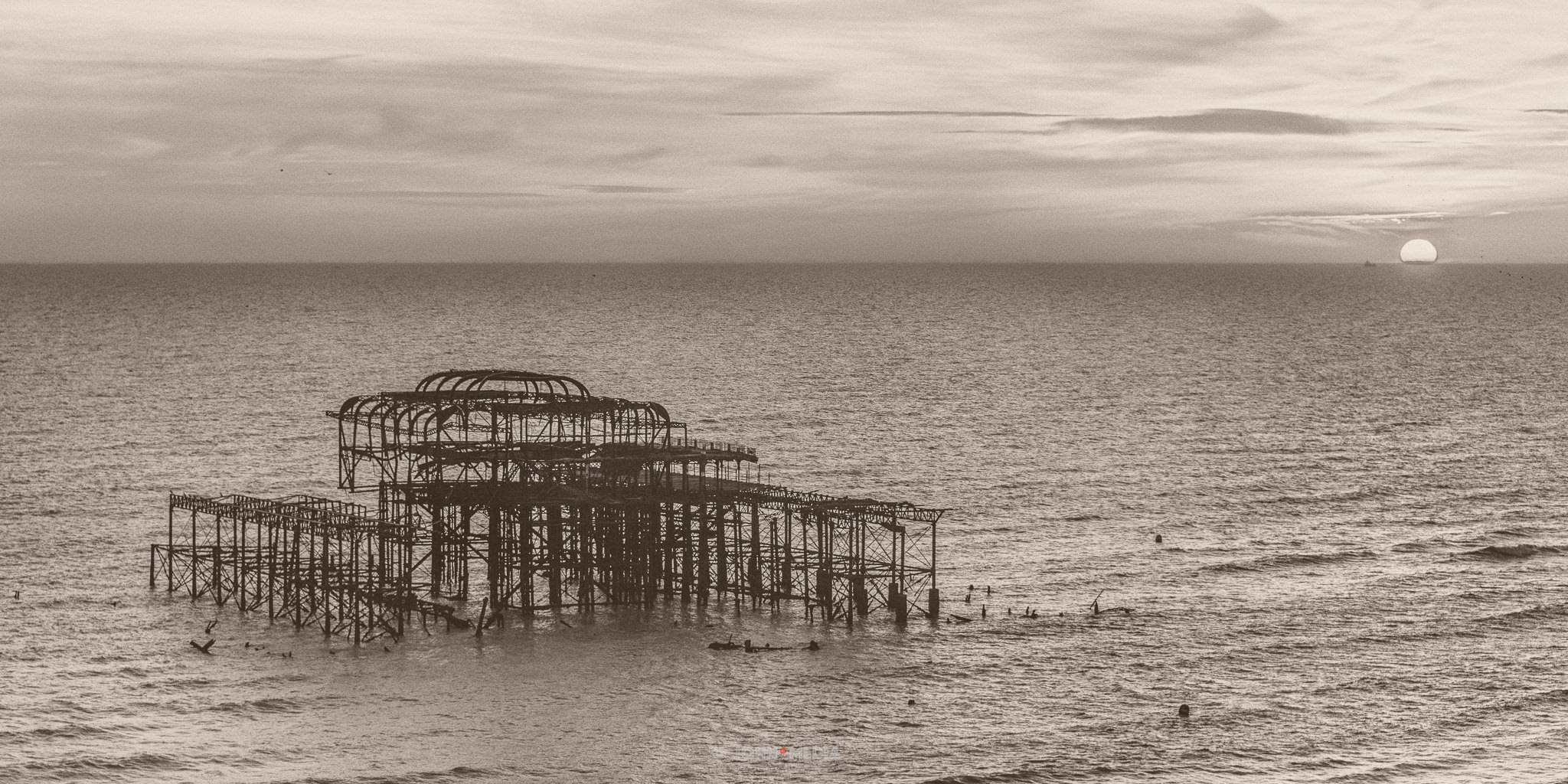 Vintage Brighton West Pier