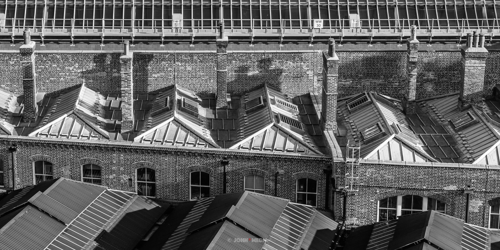 London Kings Cross rooftops
