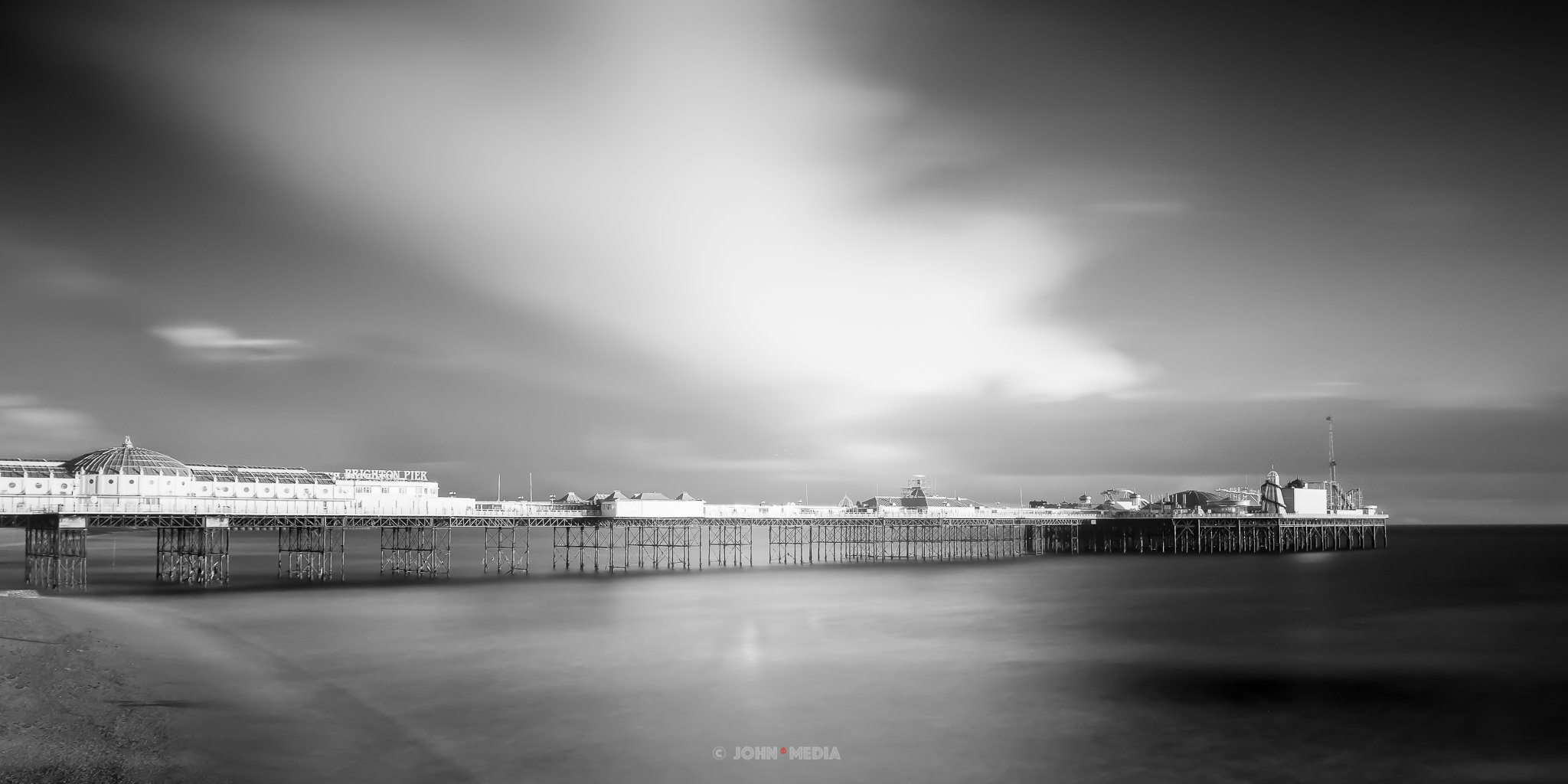 Brighton Palace Pier in infrared