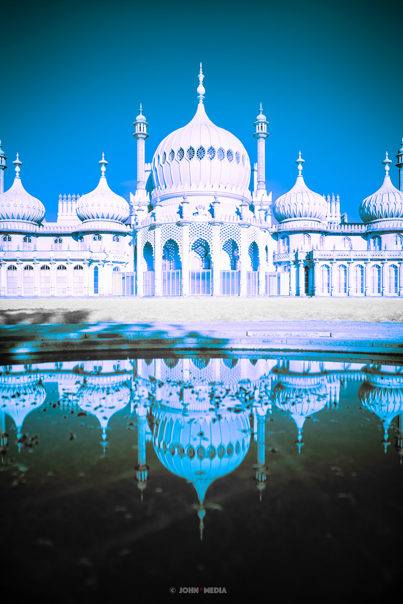Brighton Pavilion in infra red