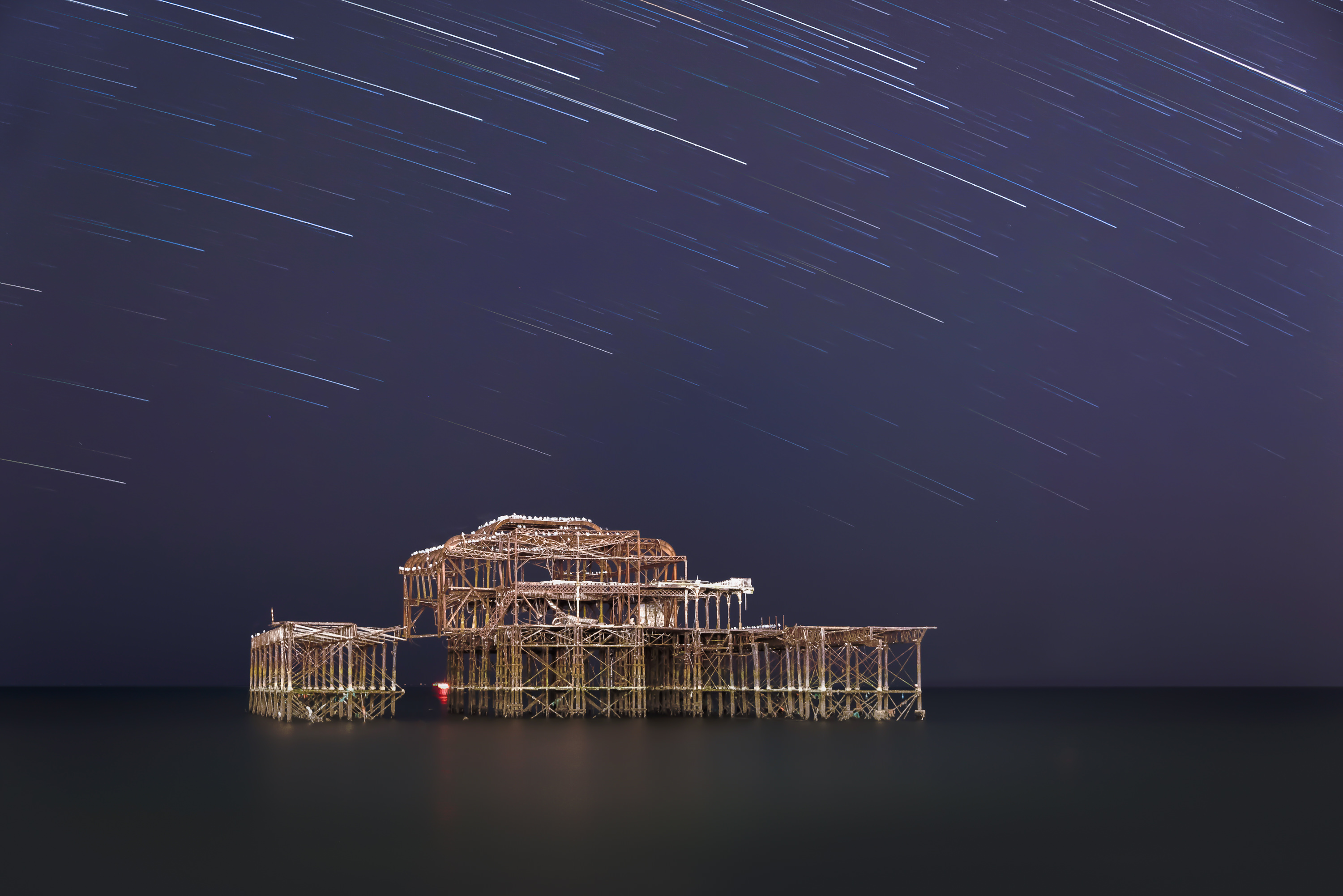 Brighton West Pier star trails