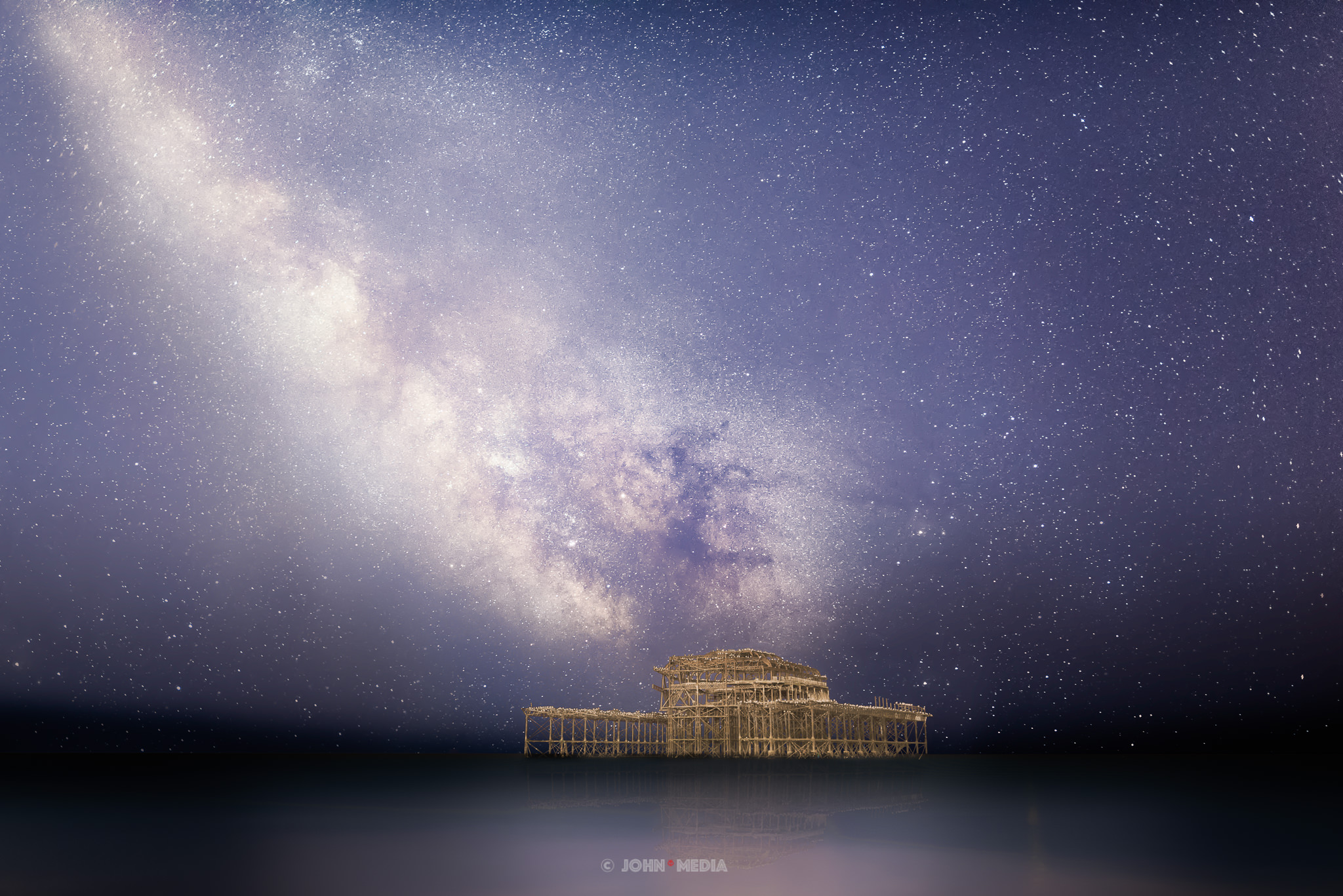 Brighton West Pier Milky Way