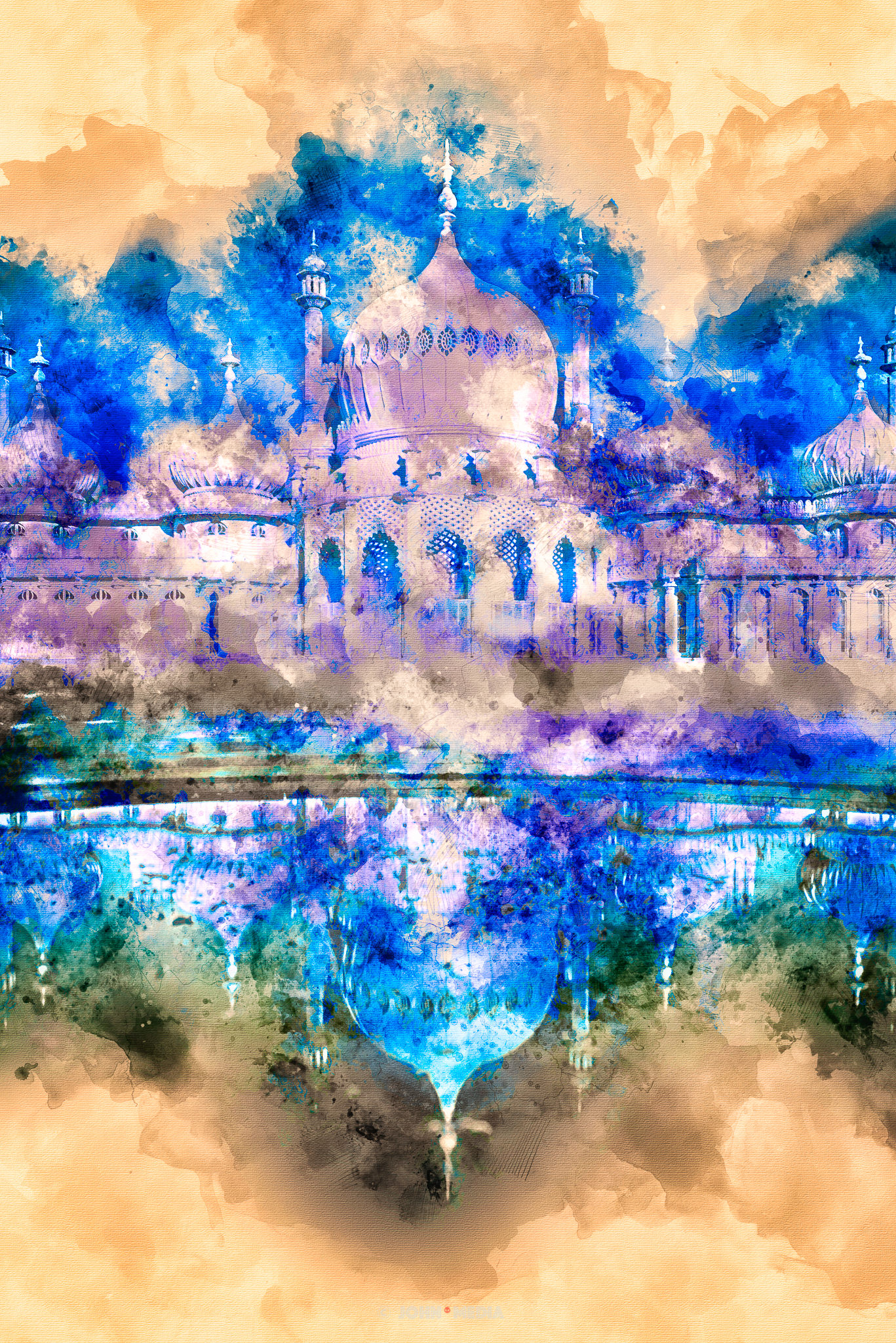 Brighton Pavilion Watercolour