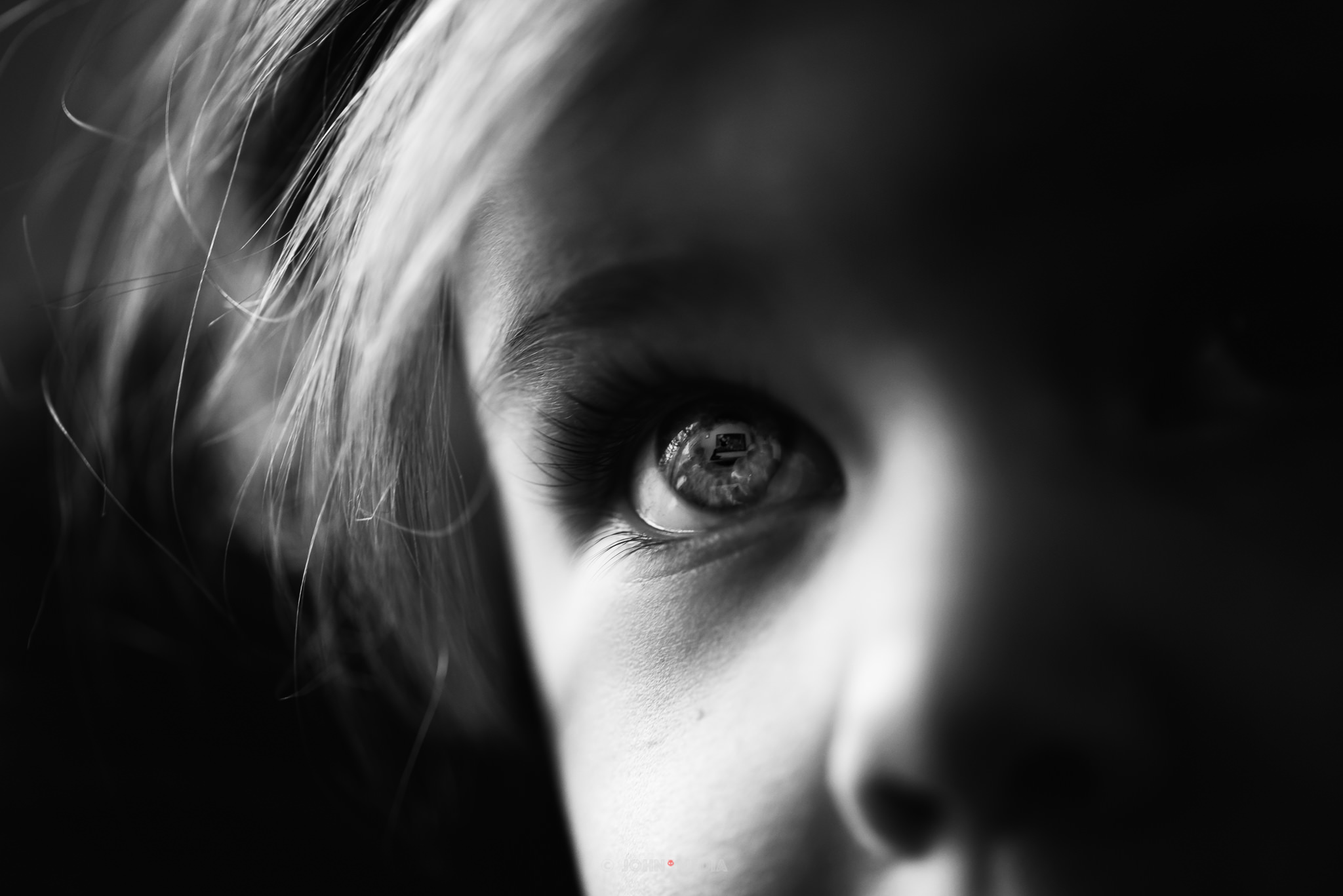 TV in the eyes