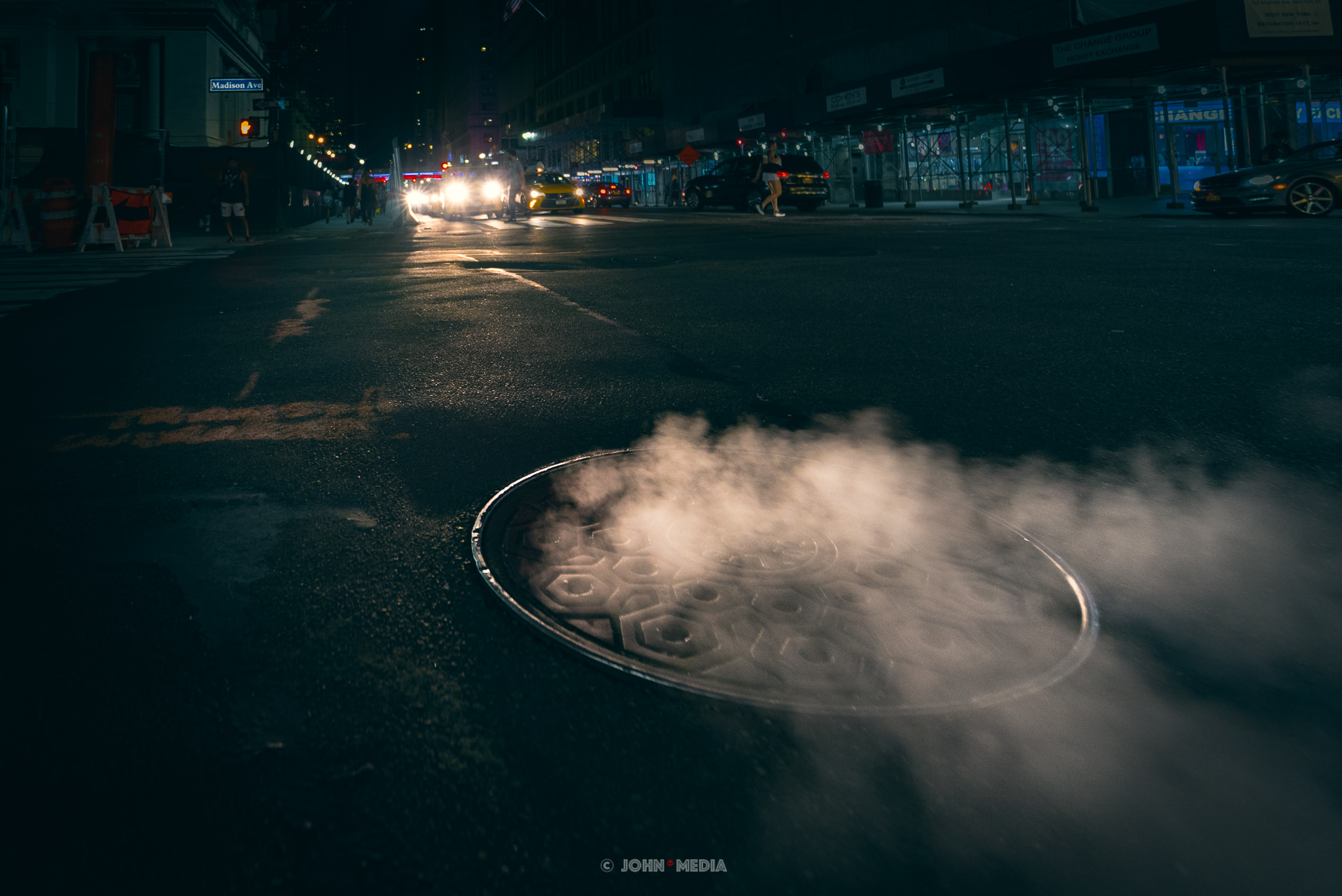 Manhattan steaming vents