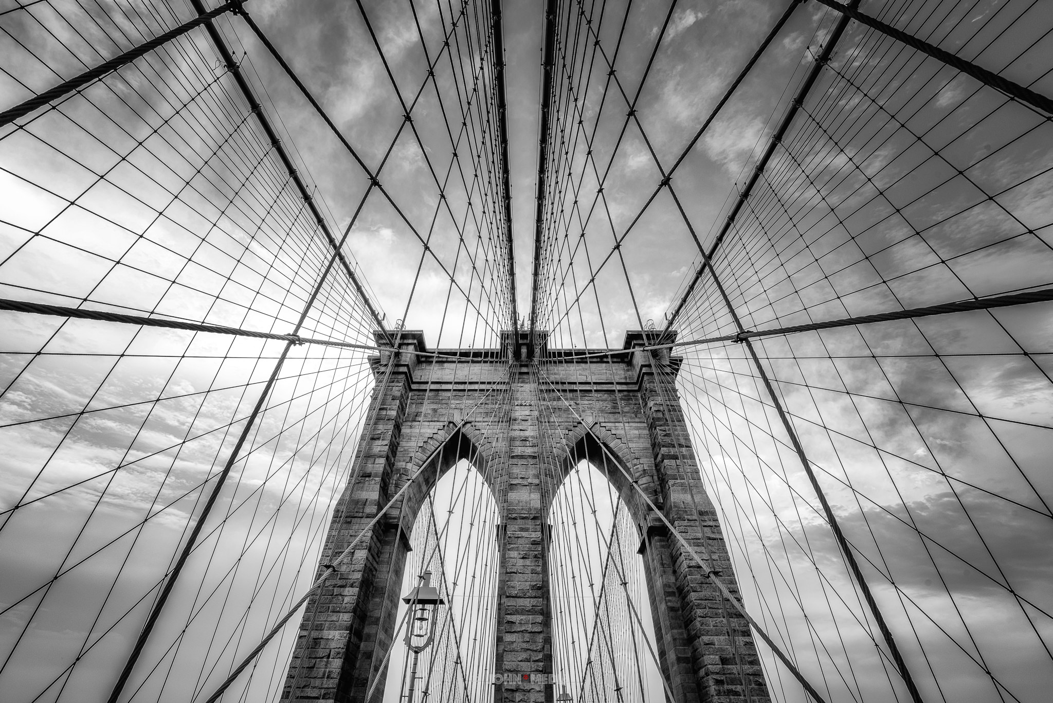 Brooklyn Bridge looking up