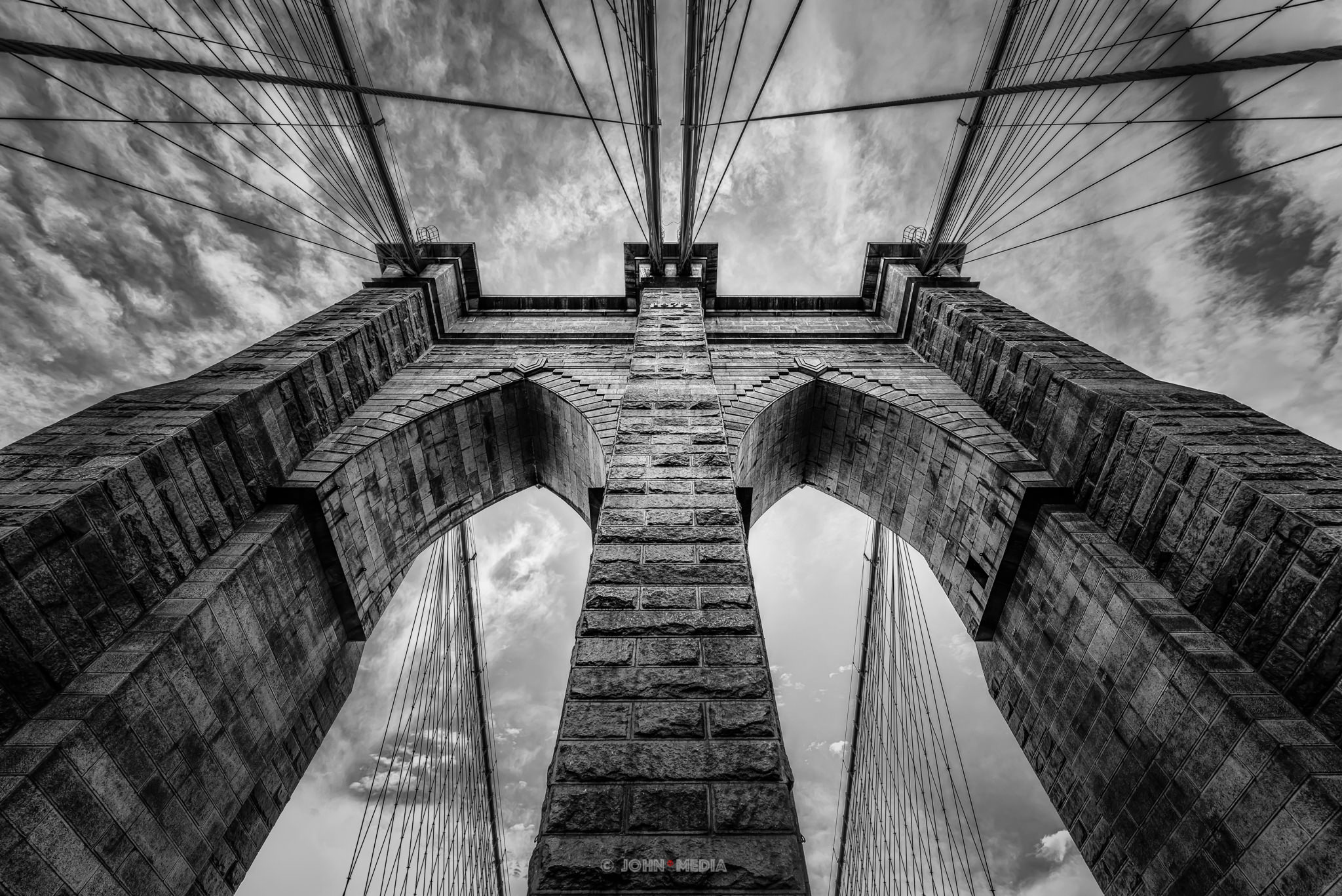 Brooklyn Bridge stormy weather