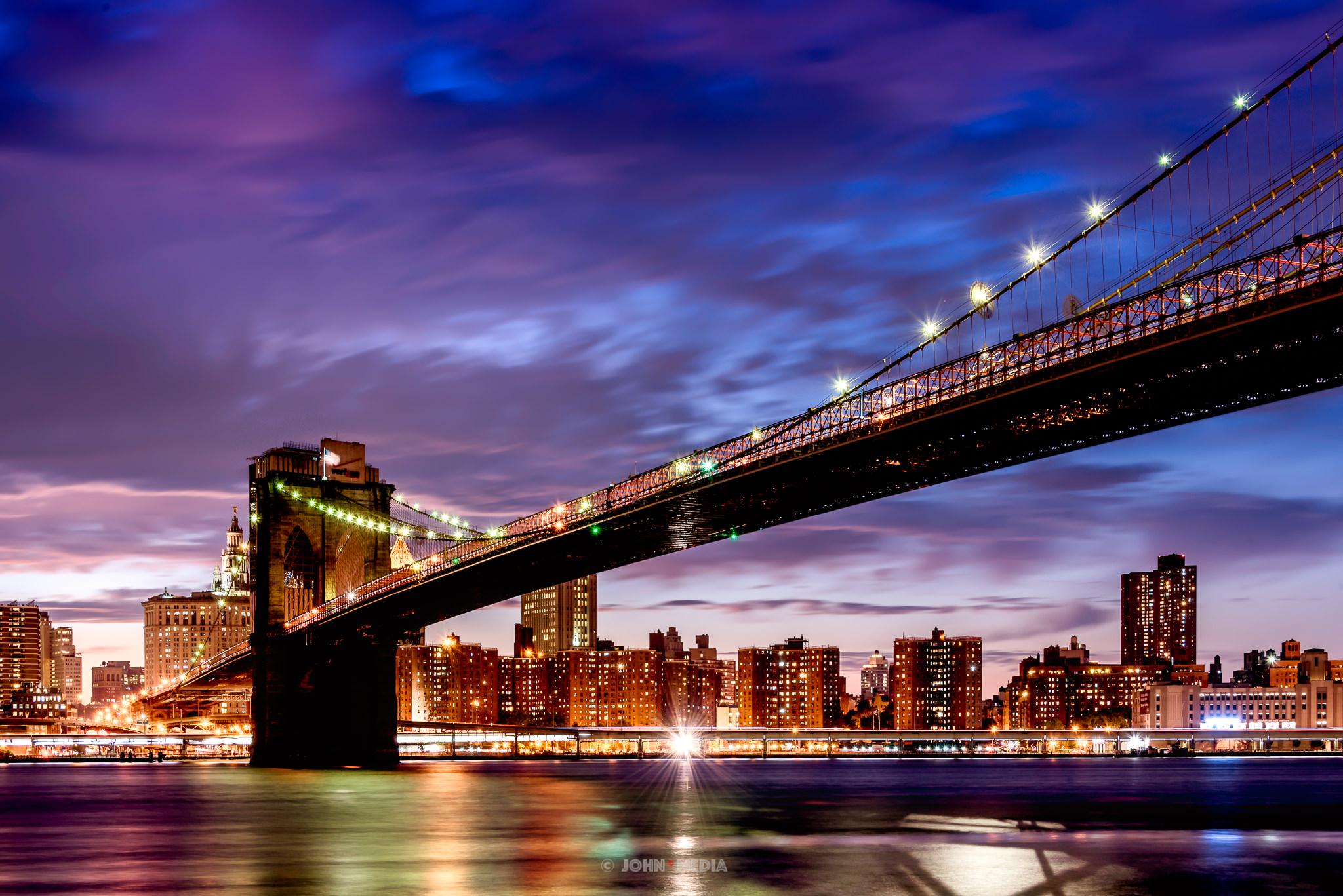 Brooklyn Bridge shadows