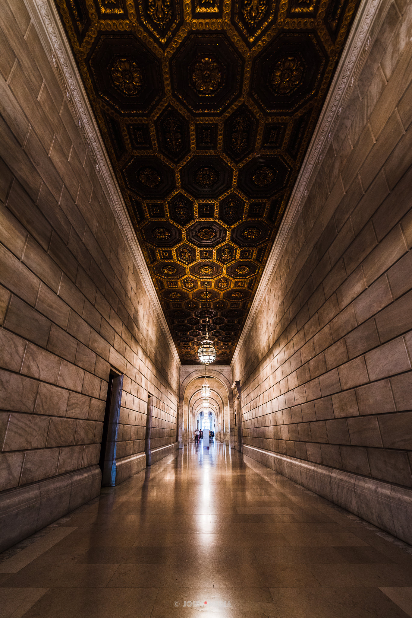 New York Public Library corridors