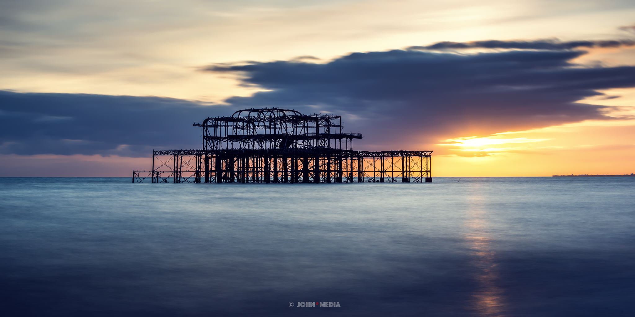 West Pier calm sunset