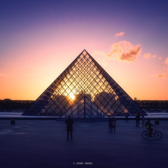 Louvre sunset