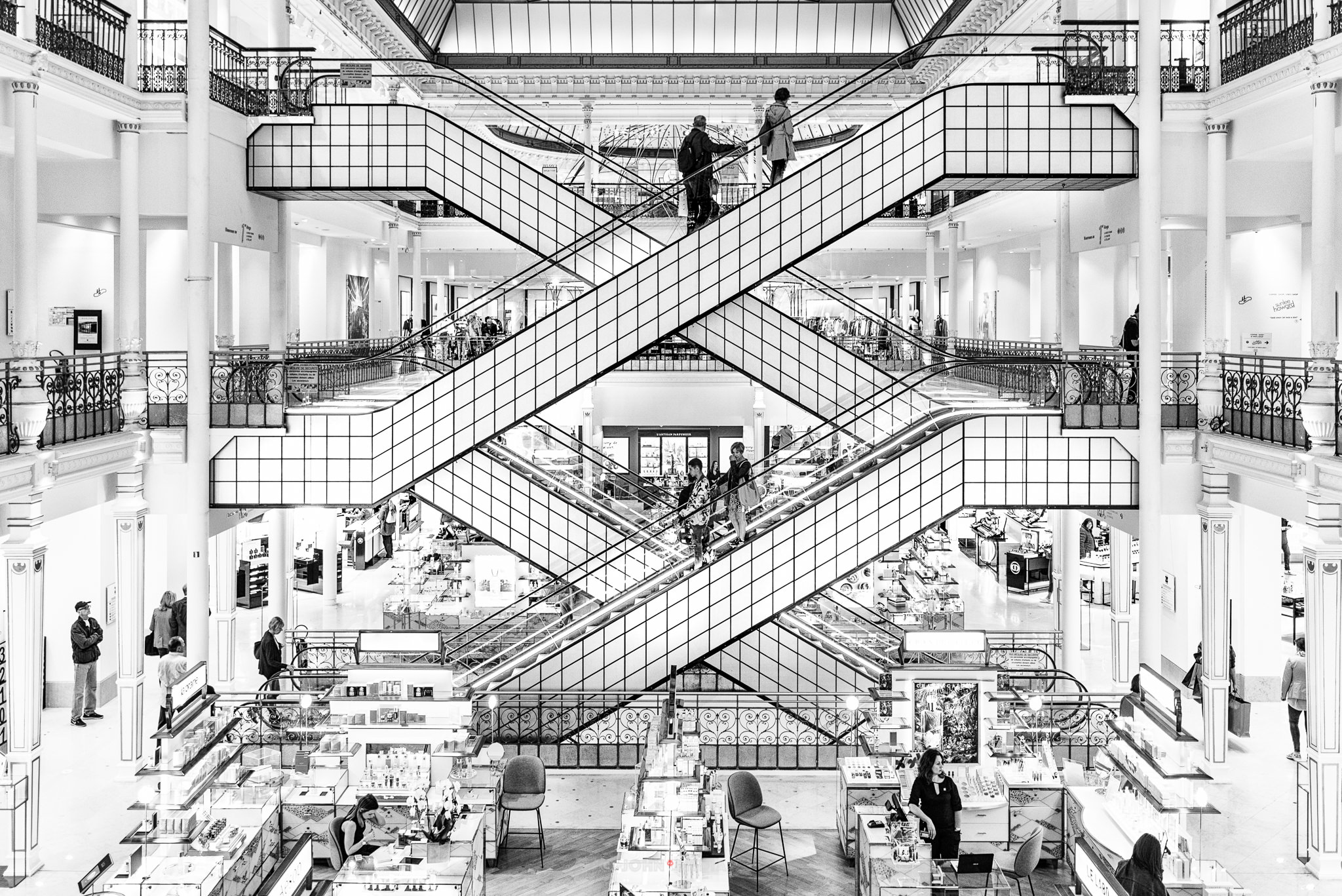 Le Bon Marche Escalators Paris