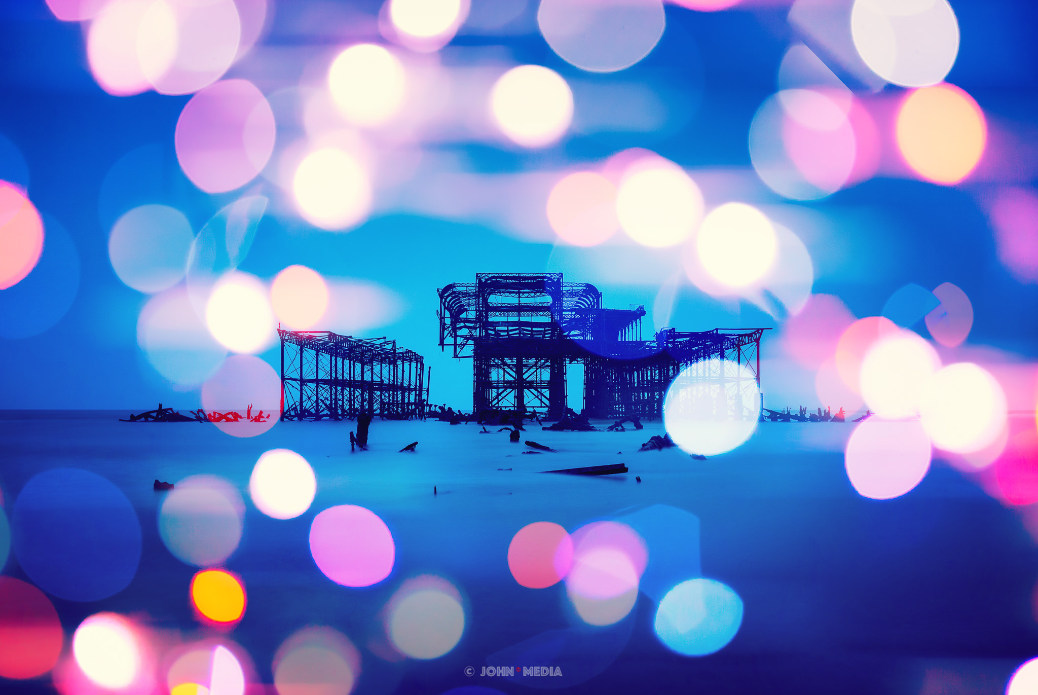 Brighton West Pier bokeh