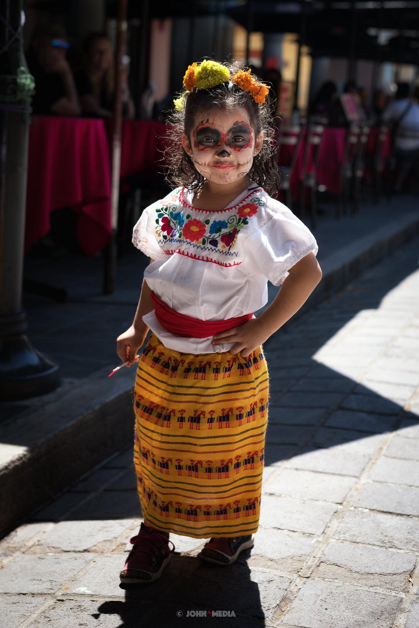 Oaxaca Dia de Muertos Little Skeleton Queen