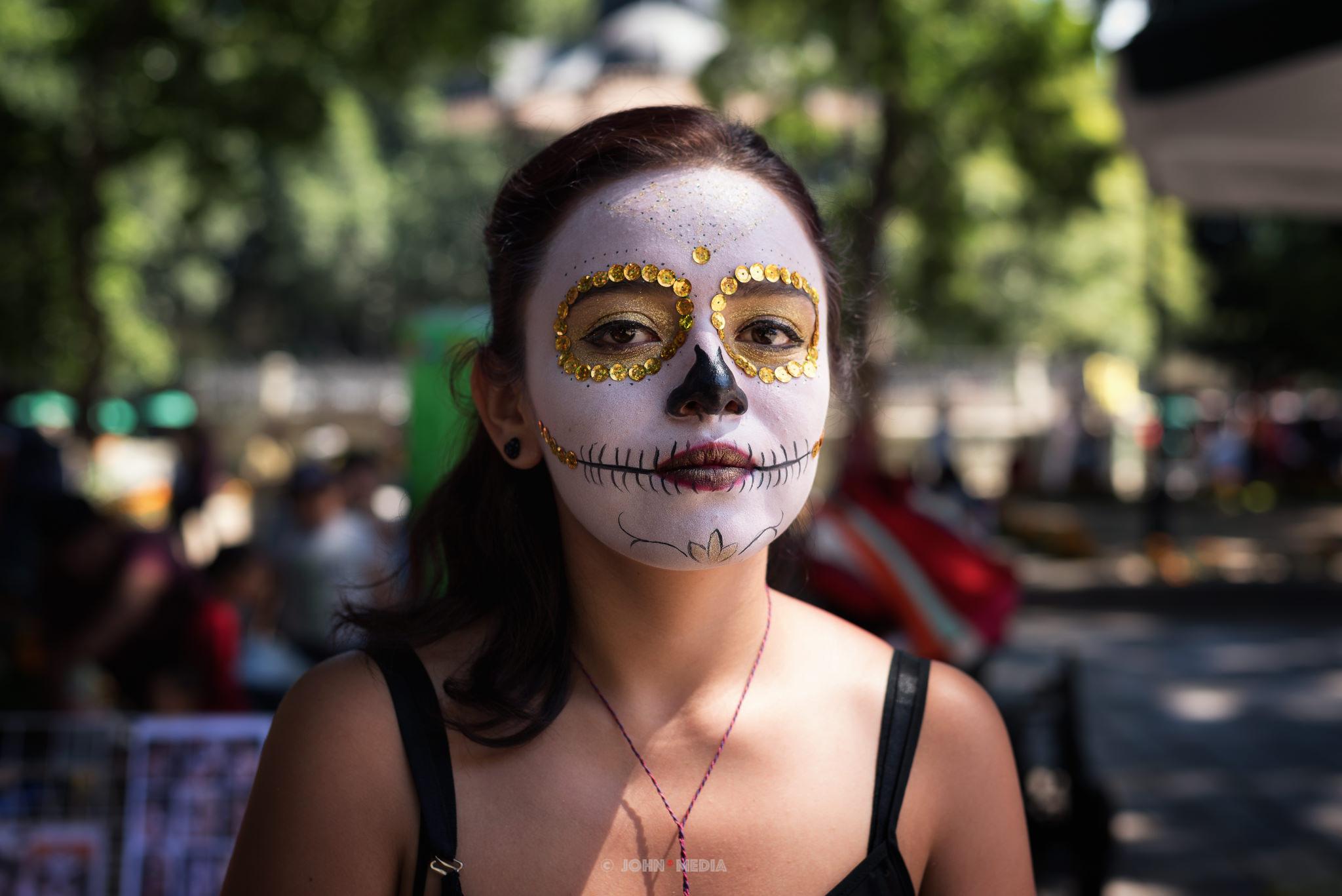 Oaxaca Dia de Muertos Golden Eyes