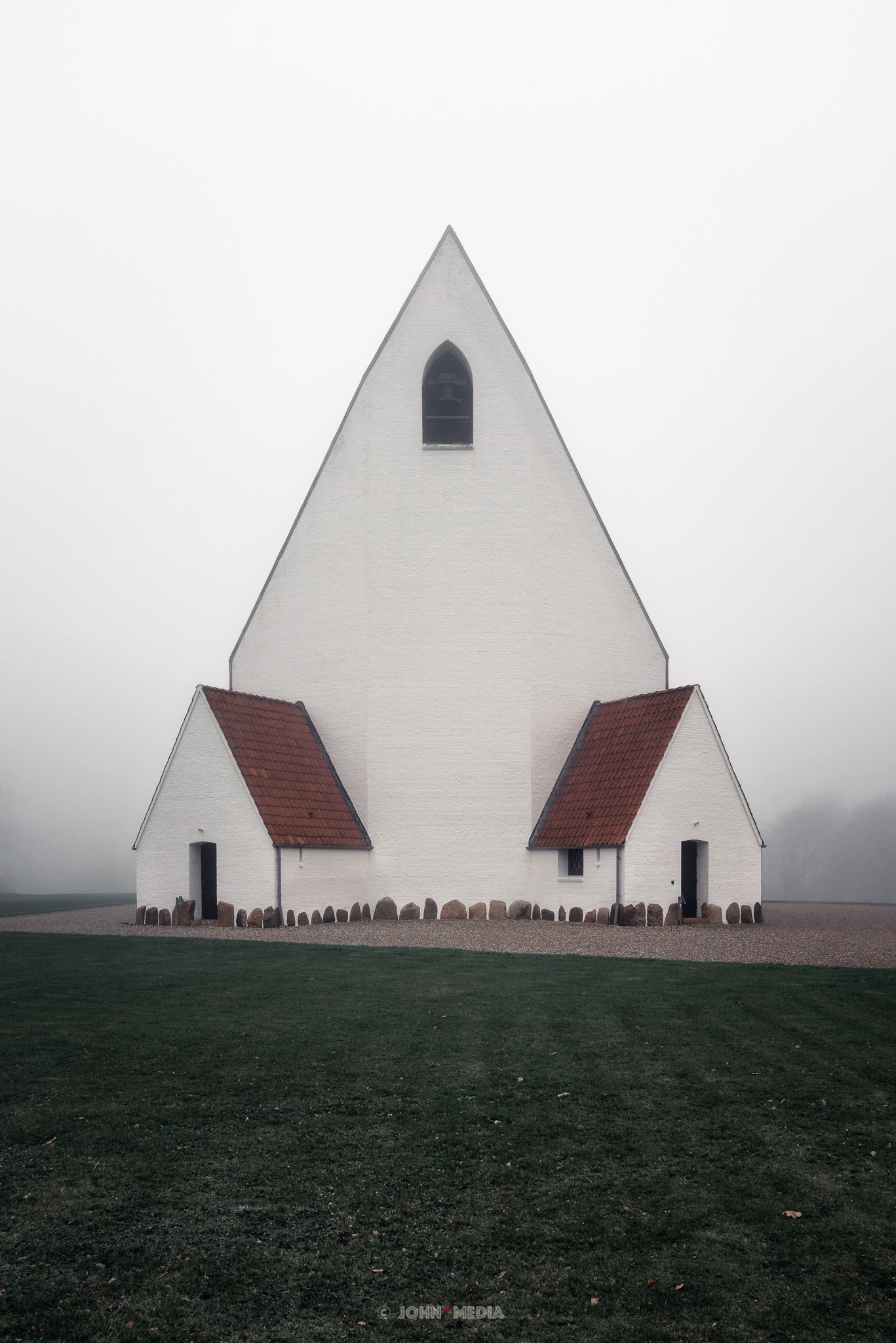 Vejle Church in the Mist