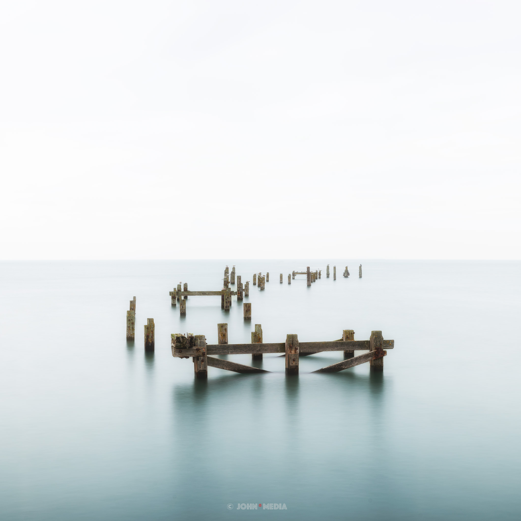 Swanage old pier long exposure
