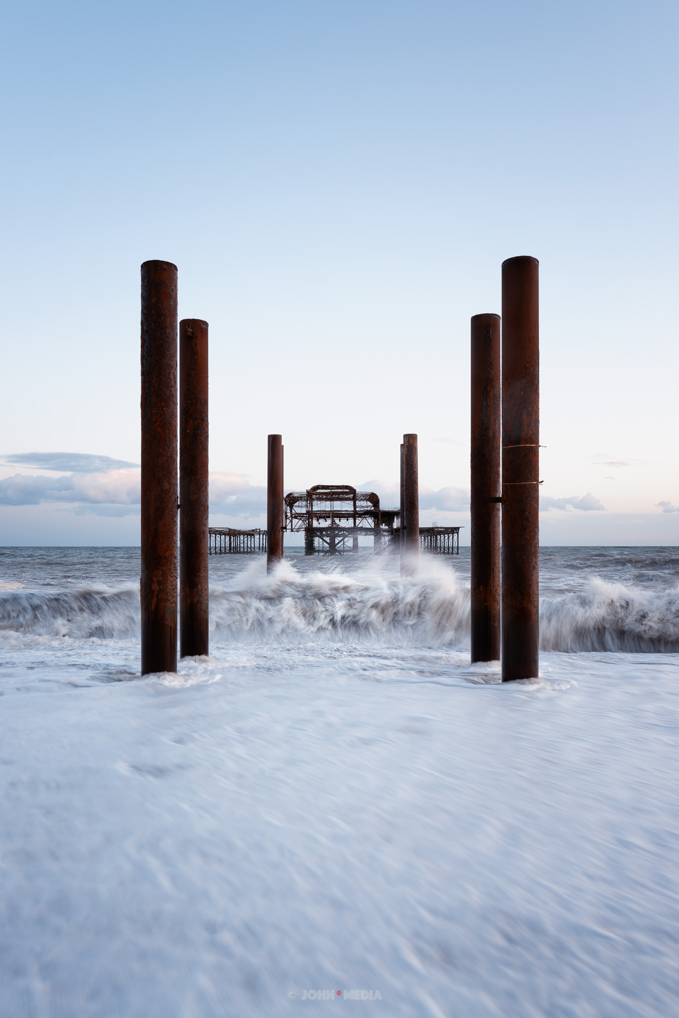 West pier breakers
