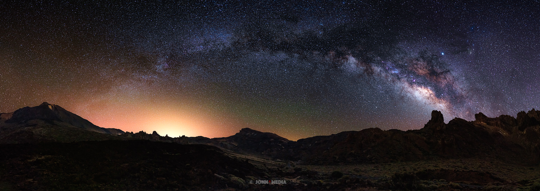 Tenerife astrophotography - milky way from the volcano