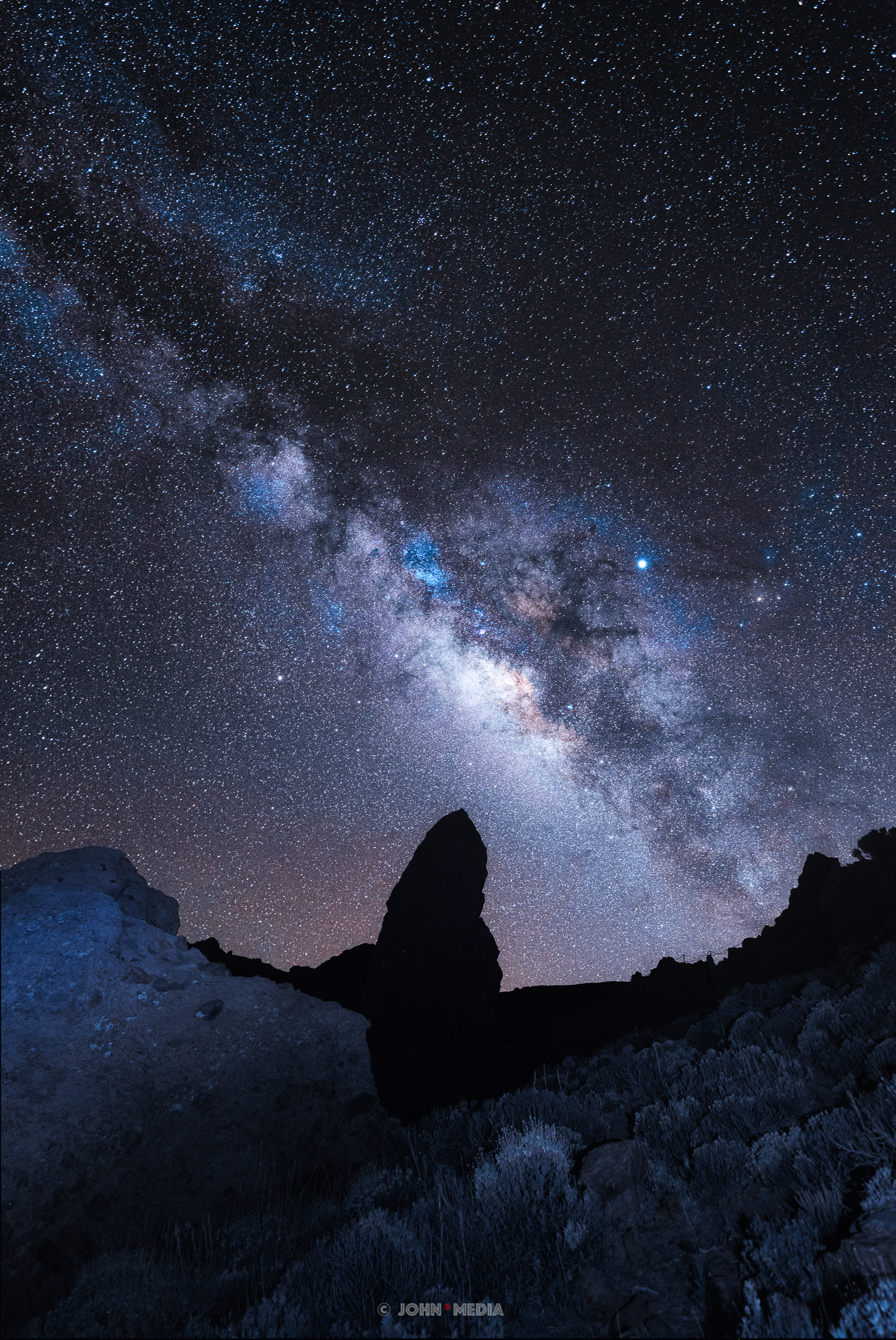 Tenerife astrophotography - Tiede by night