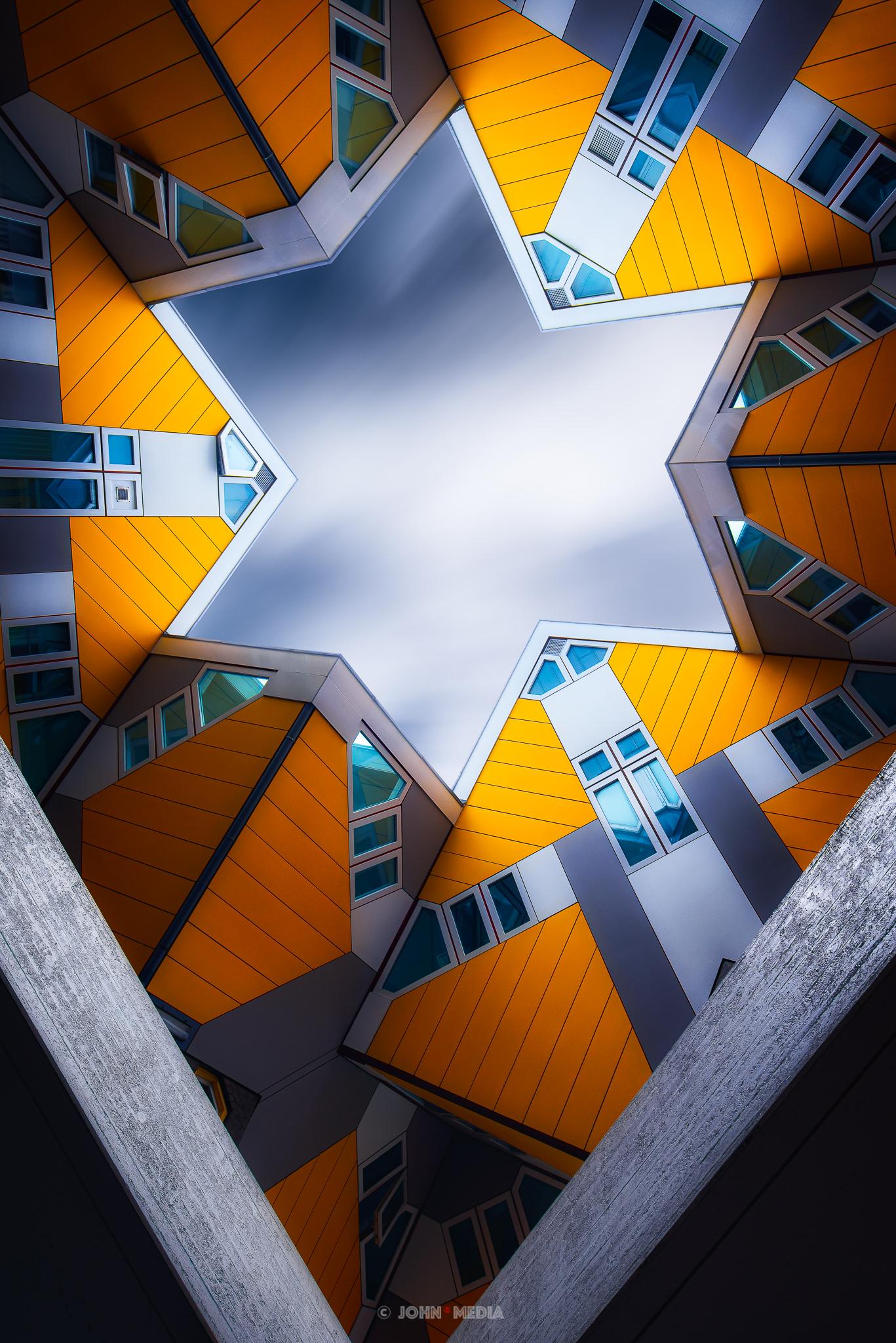 Rotterdam cube houses fine art